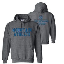 "Load image into Gallery viewer, Mountain Athlete Hoodie ""Respect"" - Dark Heather Grey"