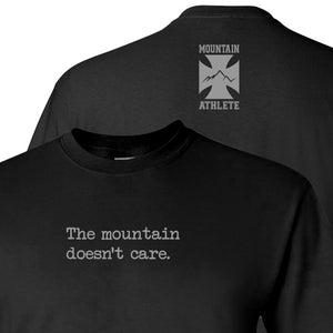 The mountain doesn't care - Black