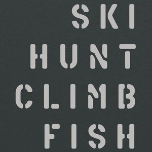 Ski Hunt Climb Fish - Dark Heather