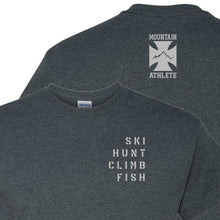 Load image into Gallery viewer, Ski Hunt Climb Fish - Dark Heather