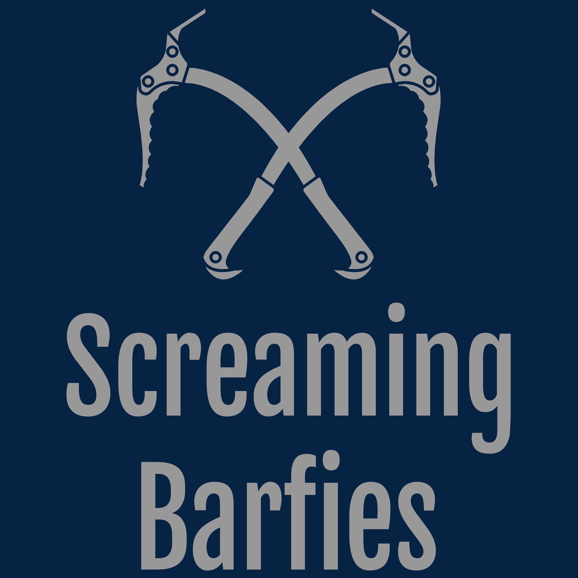Screaming Barfies Ladies - Navy