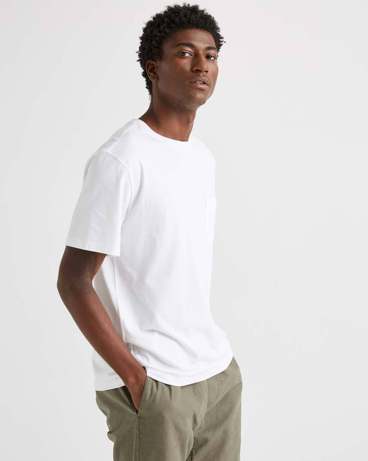 Short Sleeve Pocket Tee White