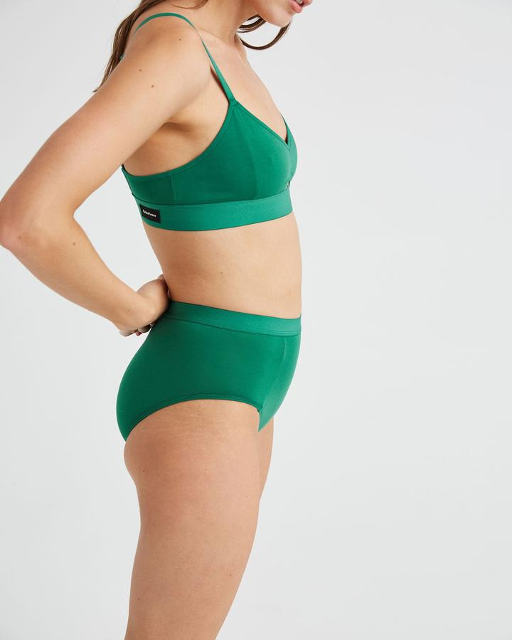 High Waist Brief Evergreen