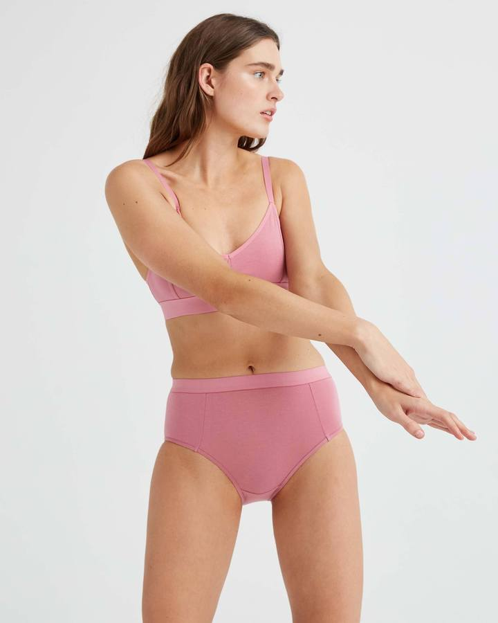 High Waist Brief Mauve Rose