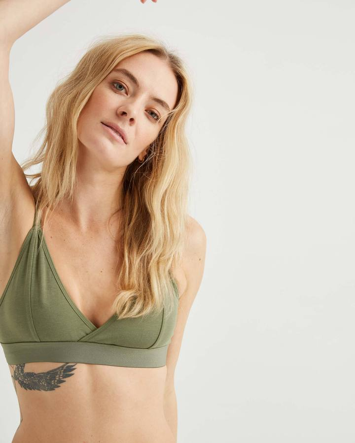 Classic Bralette Surplus Green