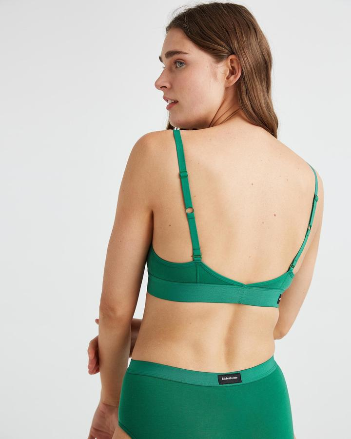 Cut Out Bralette Evergreen