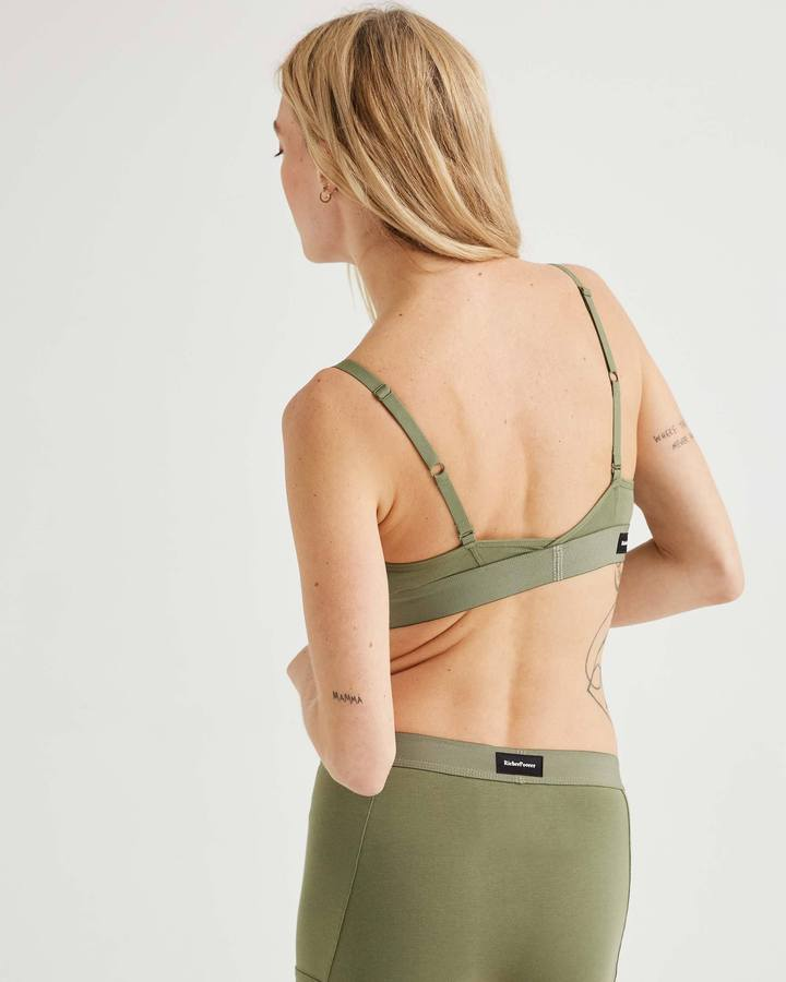Cutout Bralette Surplus Green