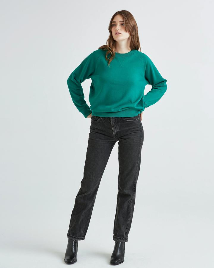 Women's Crew Sweatshirt Evergreen