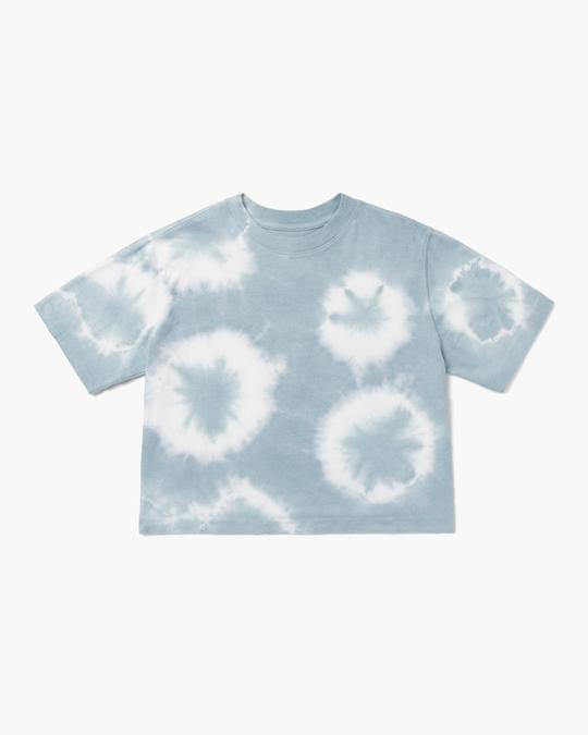 Relaxed Crop Tee Blue Mirage
