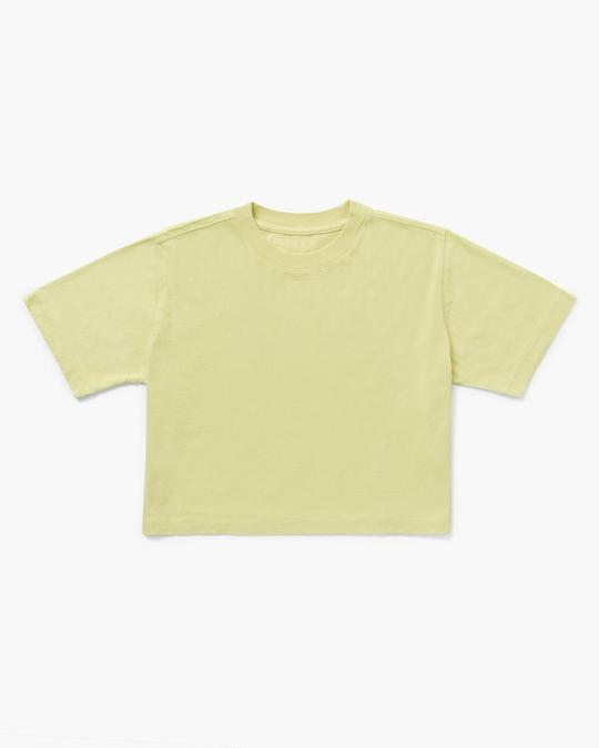 Relaxed Crop Tee Pale Green