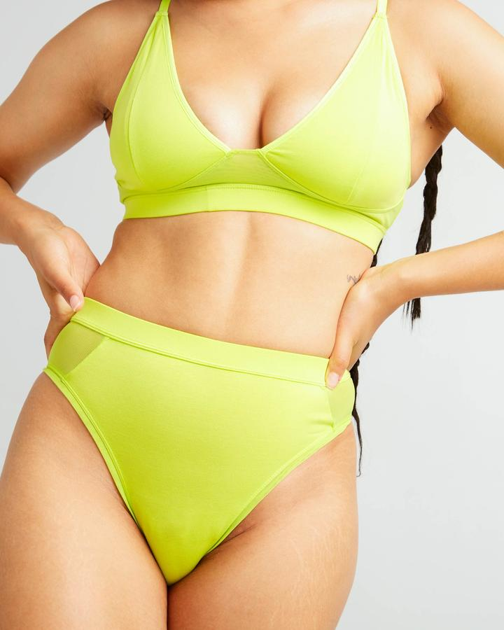 High Cut Brief Neo Lime