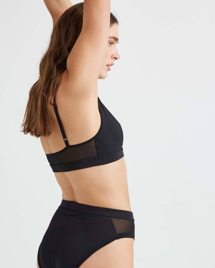 High Cut Bralette Black