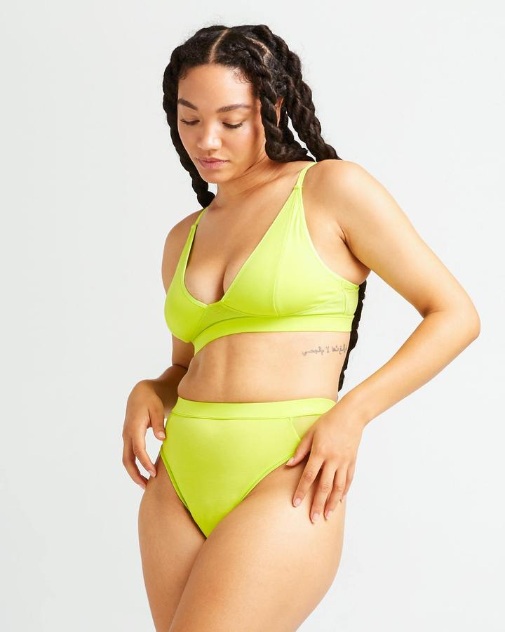 High Cut Bralette Neo Lime