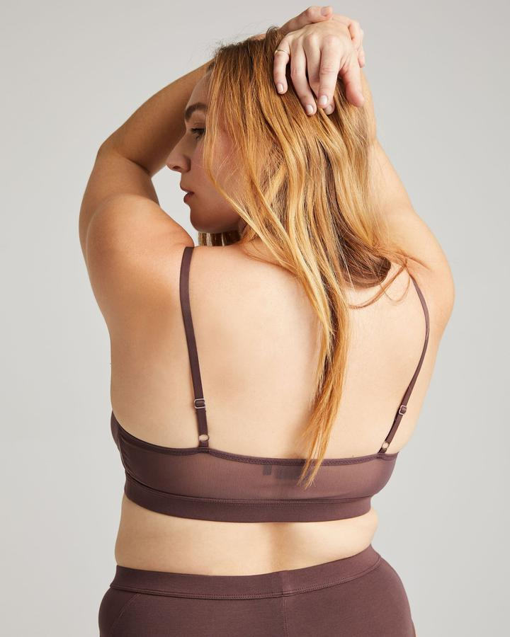 High Cut Bralette Truffle