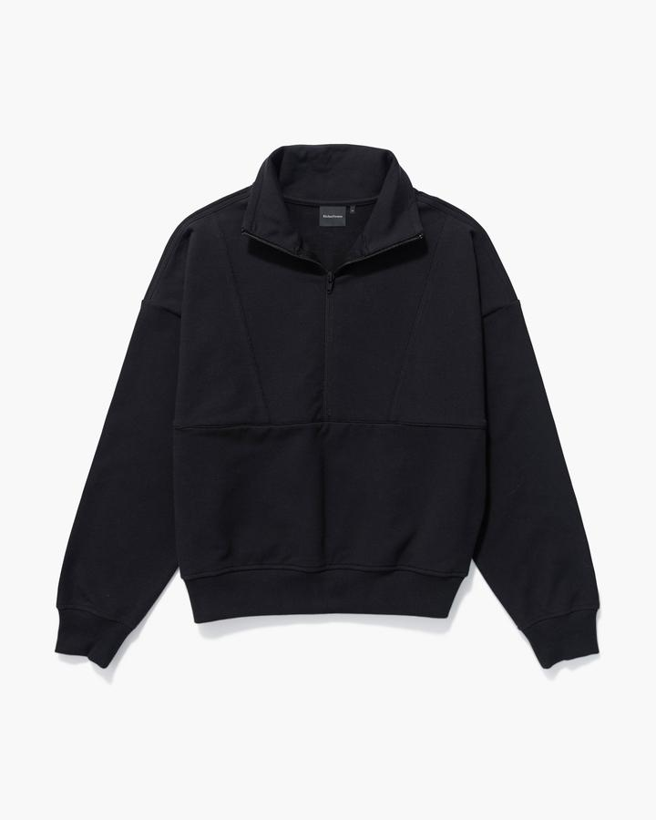 Terry Mockneck Sweatshirt Stretch Limo