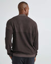 Men's Cozy Knit LS Polo Bitter Brown