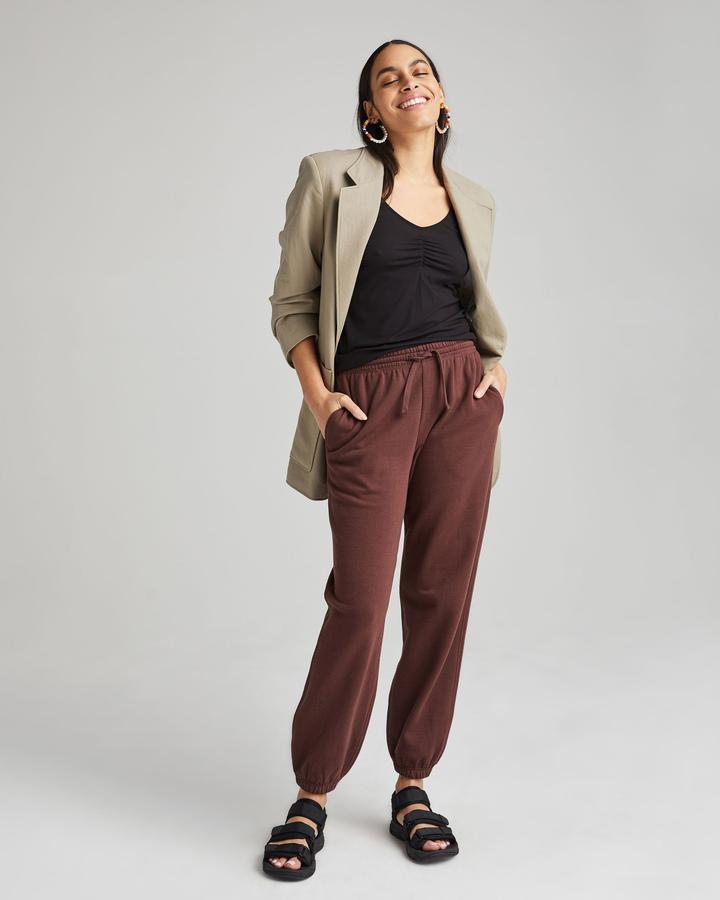 Recycled Fleece Sweatpant Truffle