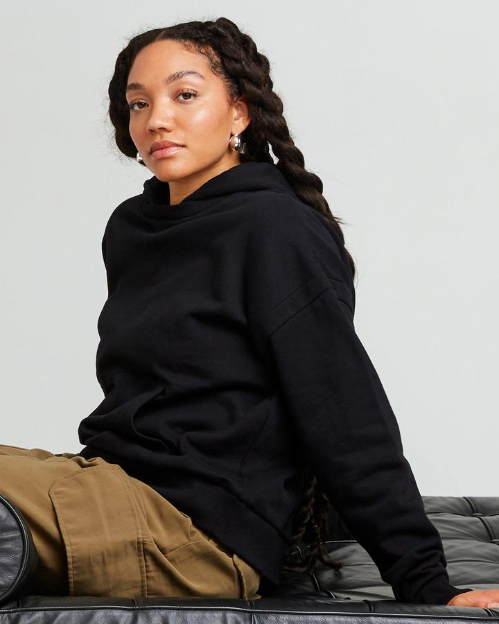 Women's Recycled Fleece Hoodie Black