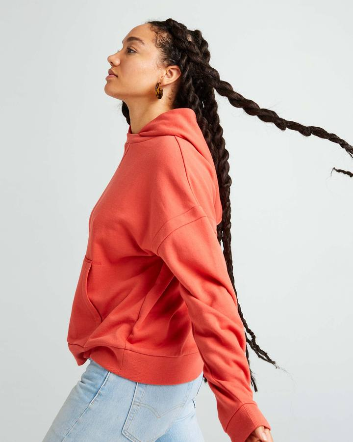Women's Recycled Fleece Hoodie Chili Flake