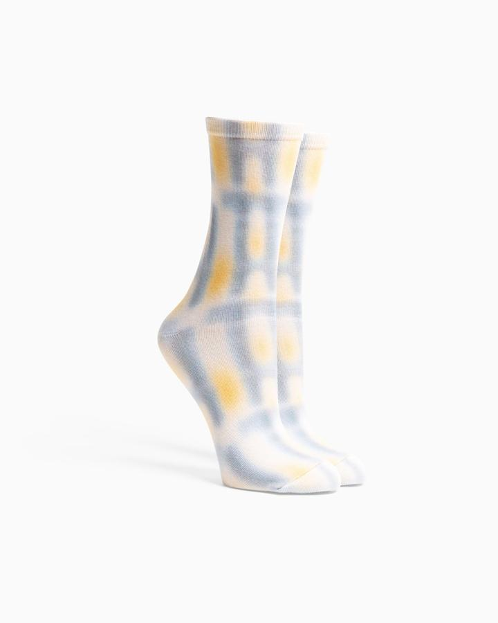 Window Pane Socks Bone