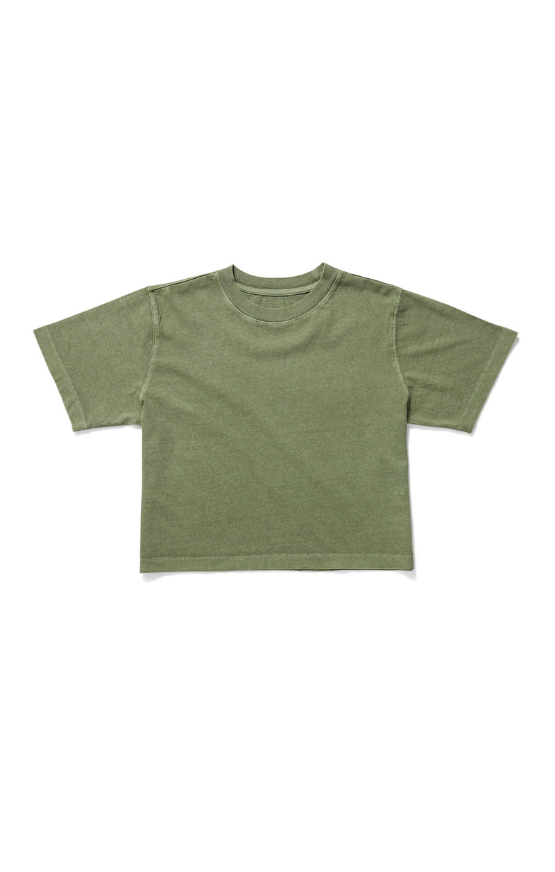 Relaxed Short Sleeve Crop Surplus Green