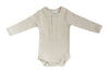 Vanilla Organic Cotton Snap Long Sleeve Ribbed Bodysuit