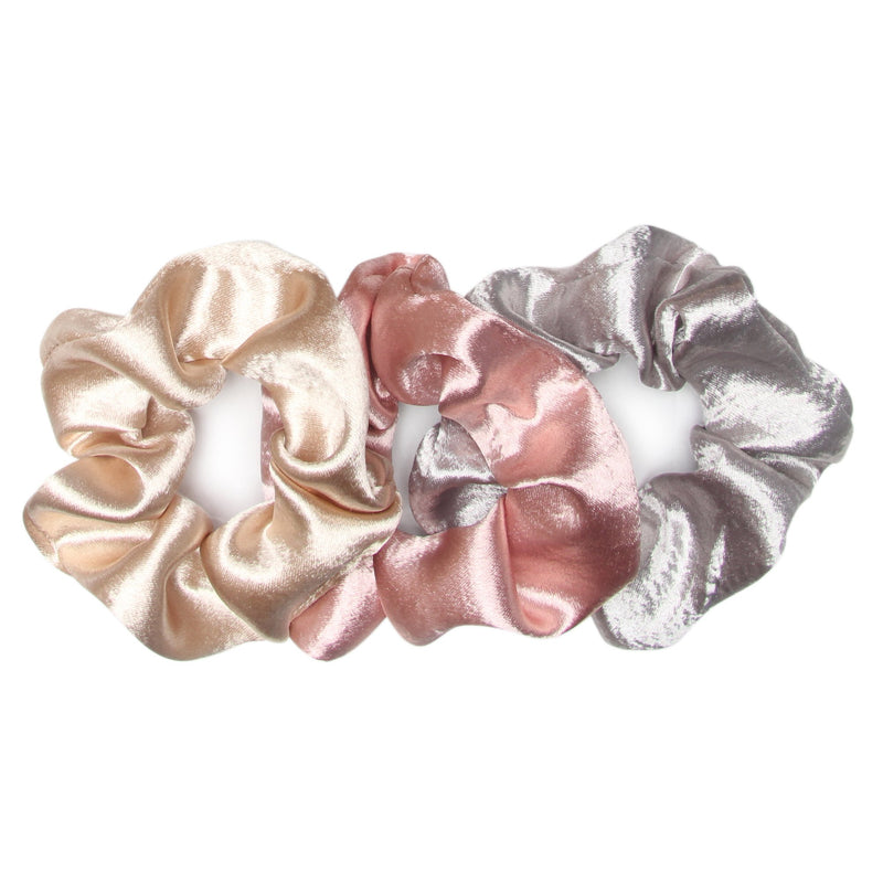 Pink Champagne 3 pack Scrunchies