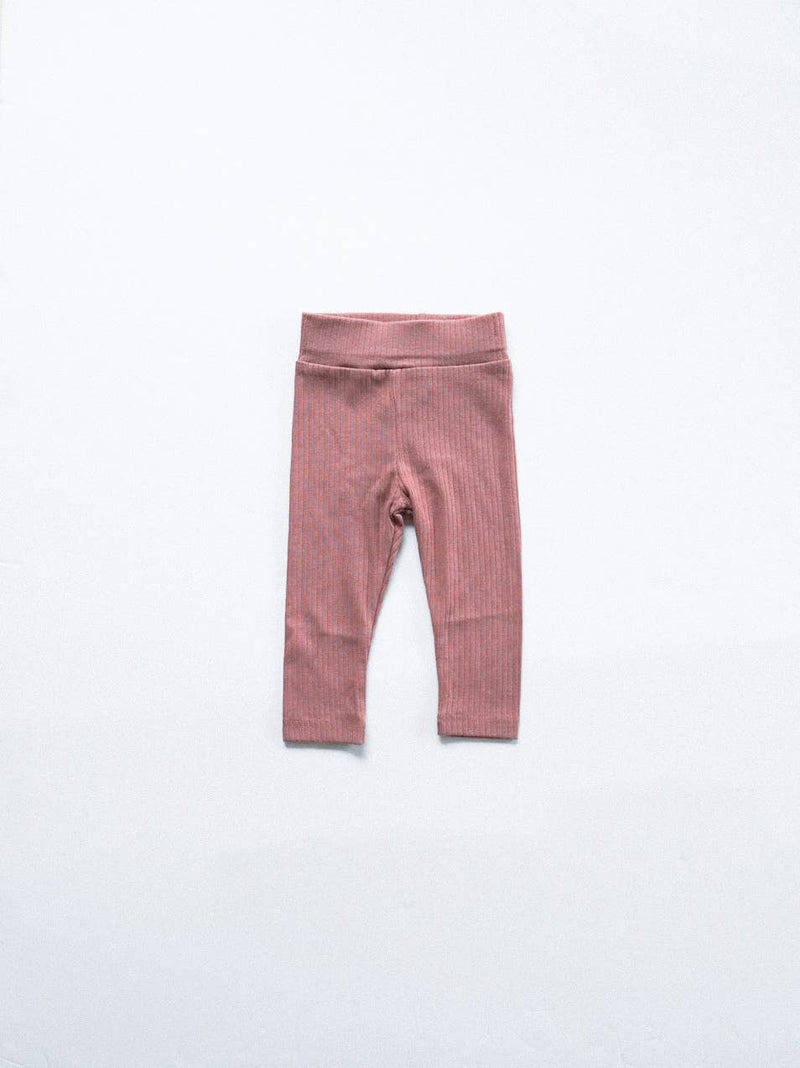 Ribbed Leggings Dusty Rose