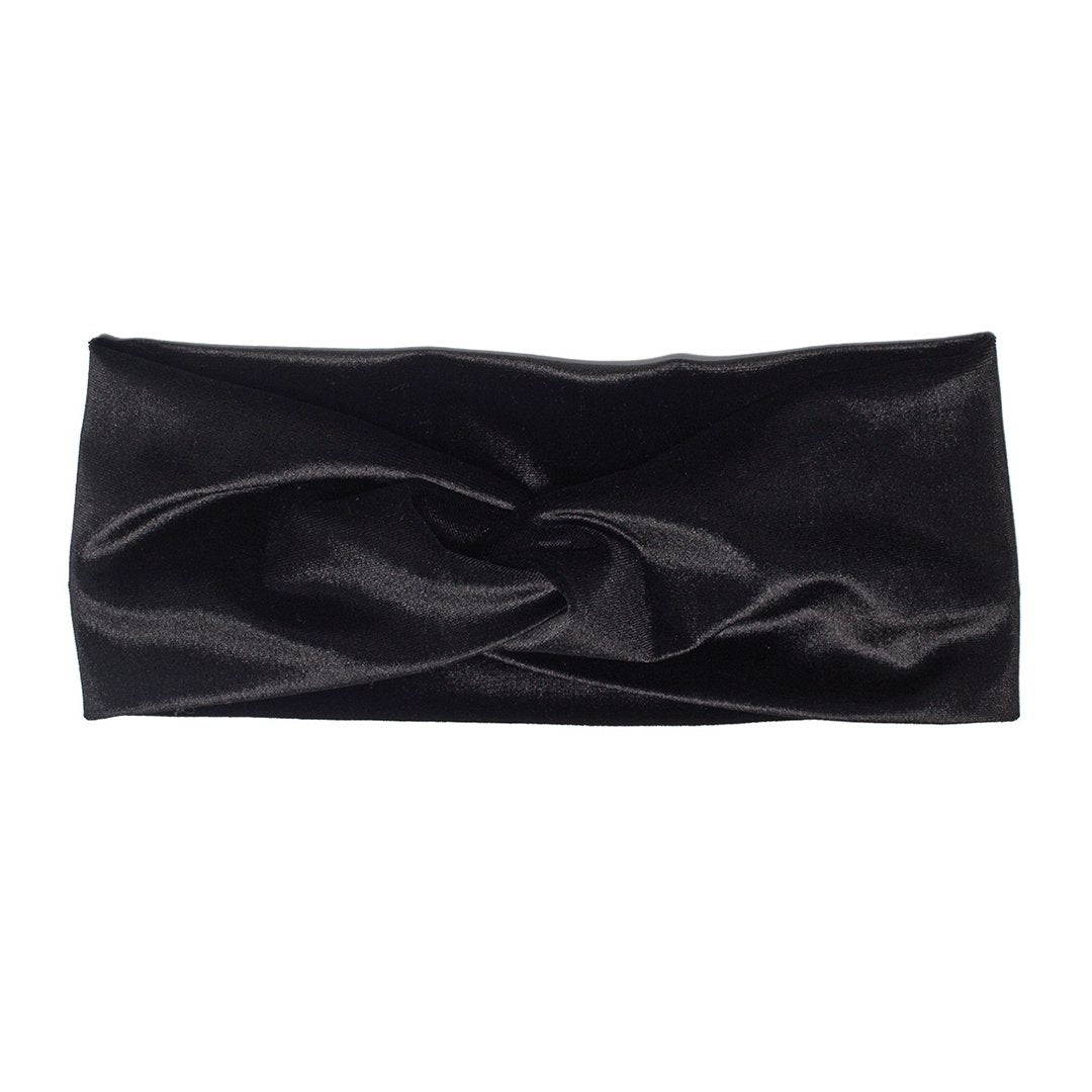 Black Velvet Twist Headband