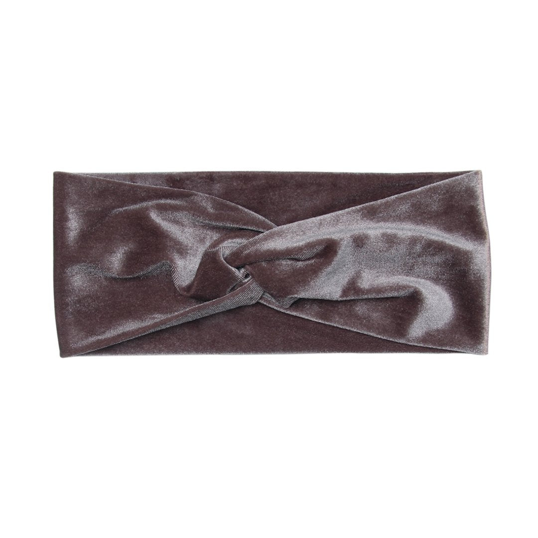 Pigeon Purple Velvet Twist Headband