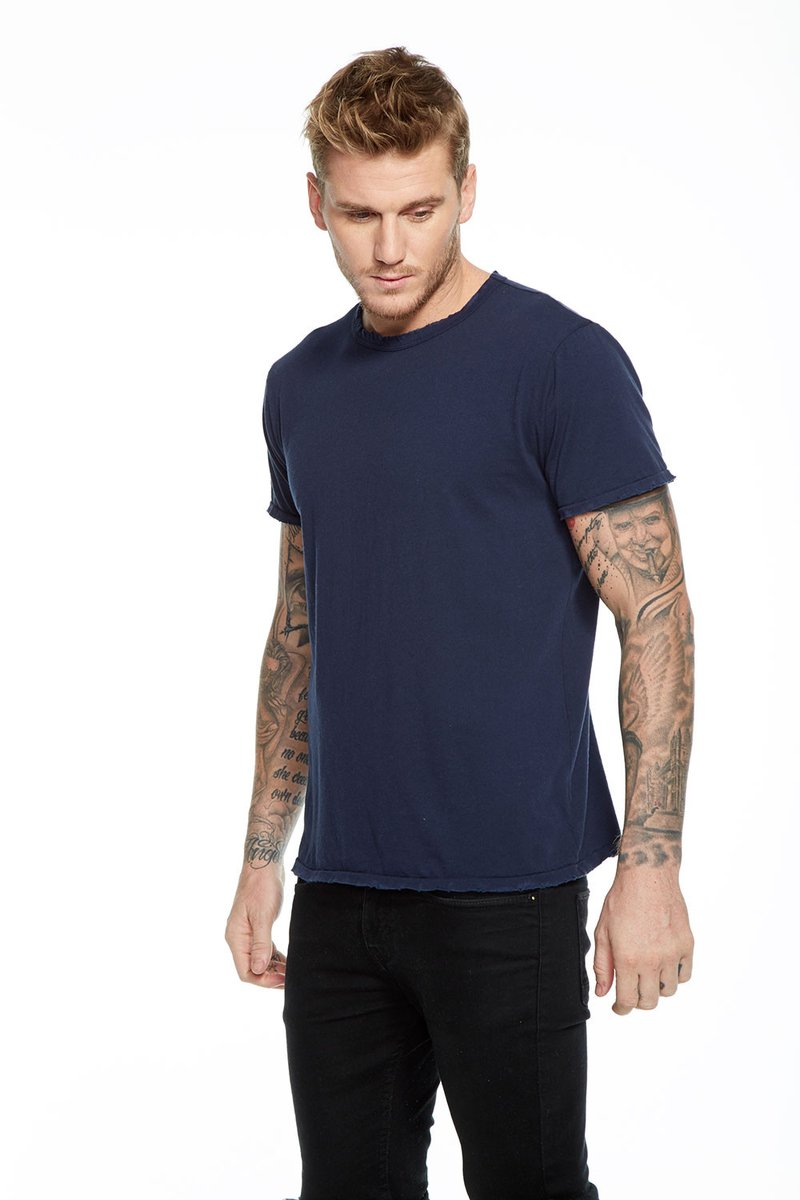 Cotton Crew Neck Tee Navy