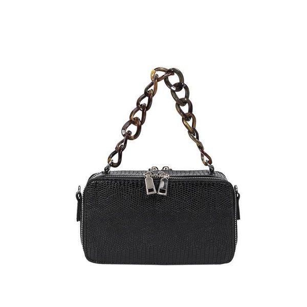 Demi Black Top Handle Bag