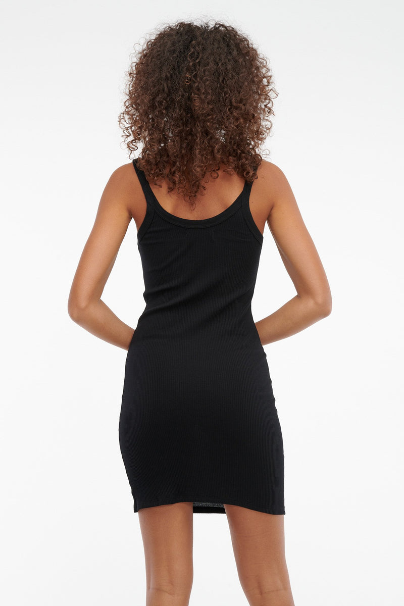 Maya Slip Dress Black