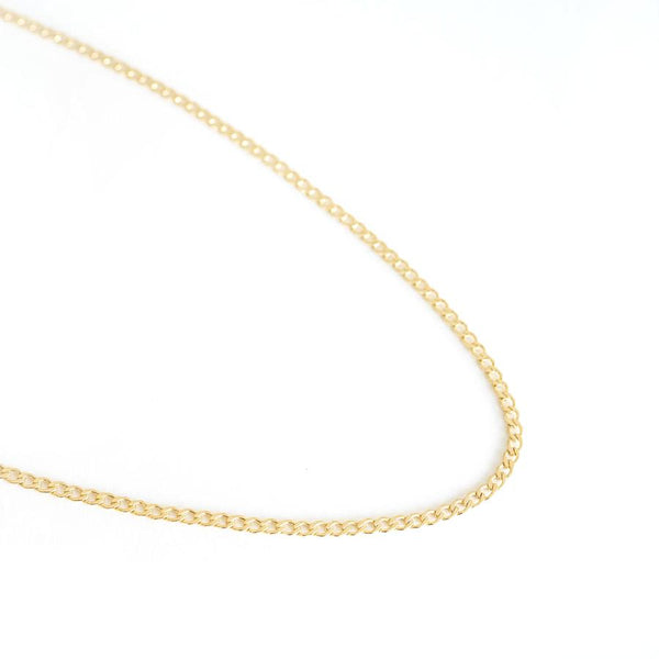 Rose Gypsy Gold Curb Link Necklace