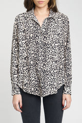 Elle Cheetah Long Sleeve Button Up