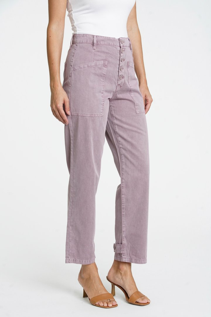 Tammy High Rise Trouser Lilac Dust