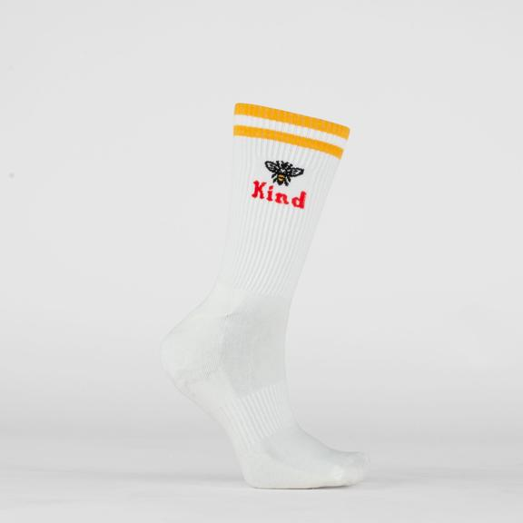 Beholder Men's Bee Kind White Sock