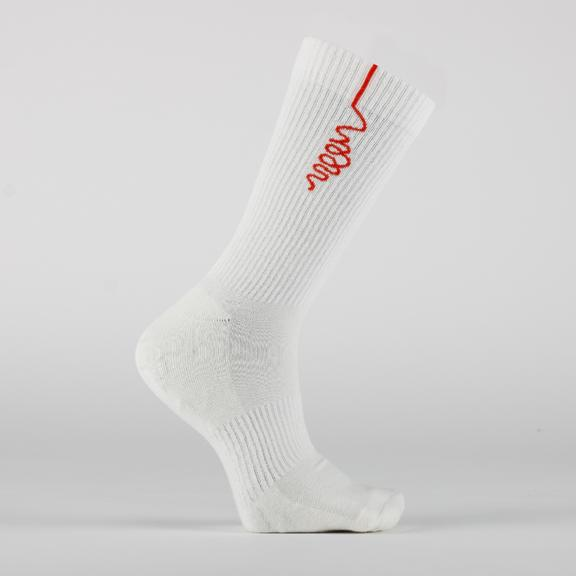 Woon Men's White Socks