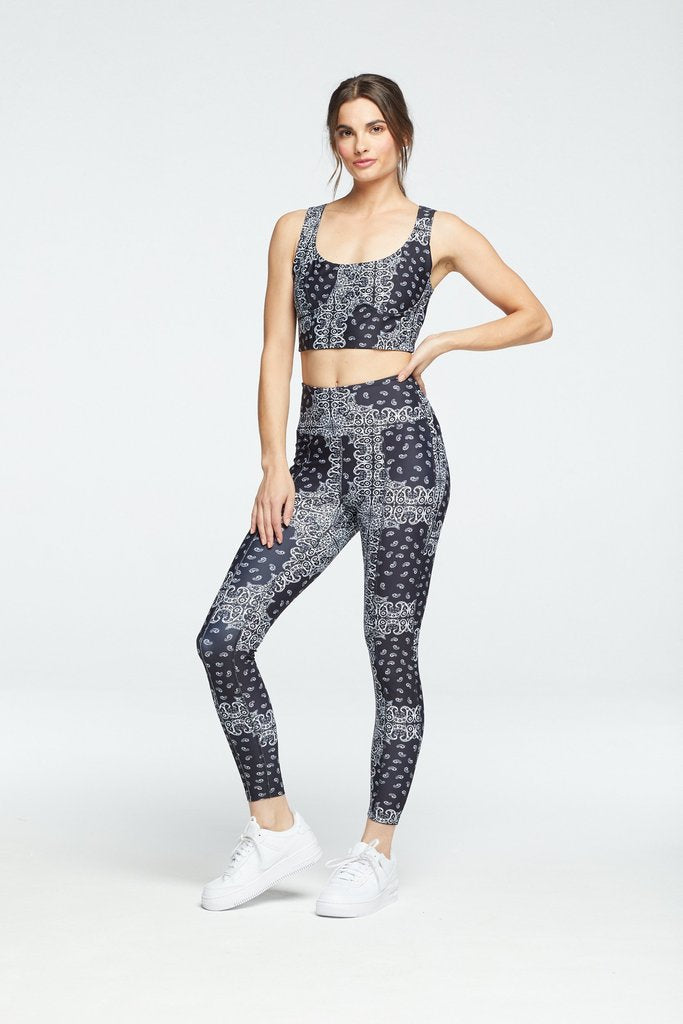 Bandana Rocky Legging Black/White
