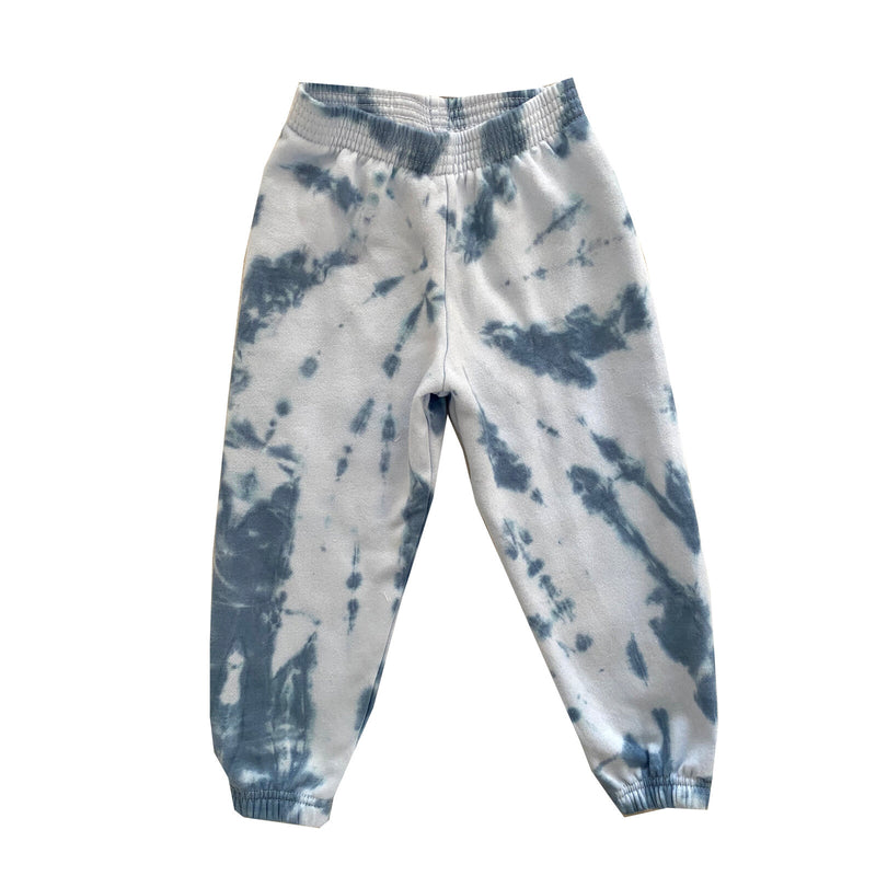 Hand Tie-Dyed Sweatpants Blue