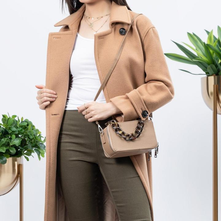 Demi Taupe Top Handle Bag