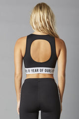 YOS New Open Back Bra Black