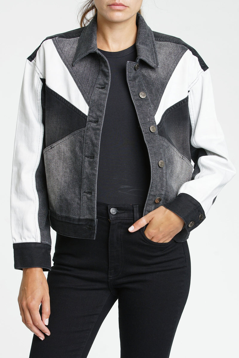Willow Colorblock Boxy Jacket Phantom