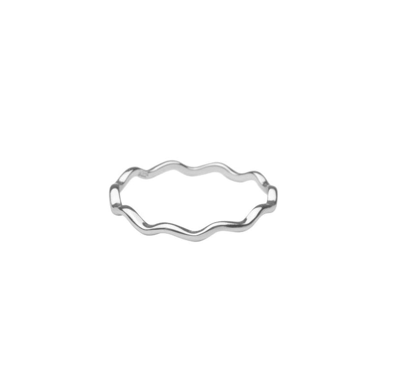 Silver Curved Ring