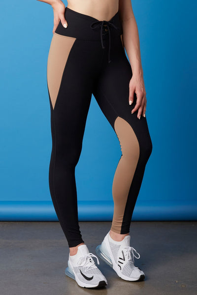 Two-Tone Football Legging Black/Doe