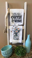 Coffee & Wine Tea Towel