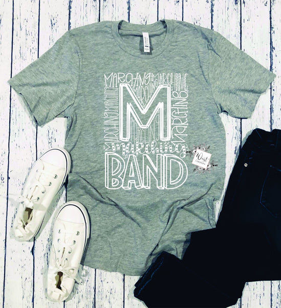 Marching Band Typography