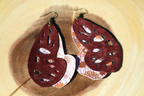 Butterfly Vegan Leather Earrings