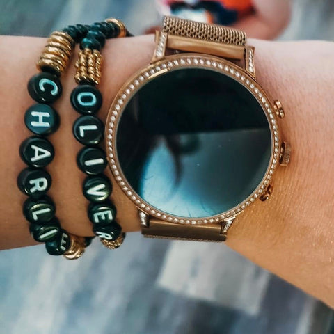 Personalized Bracelet with Black Letters