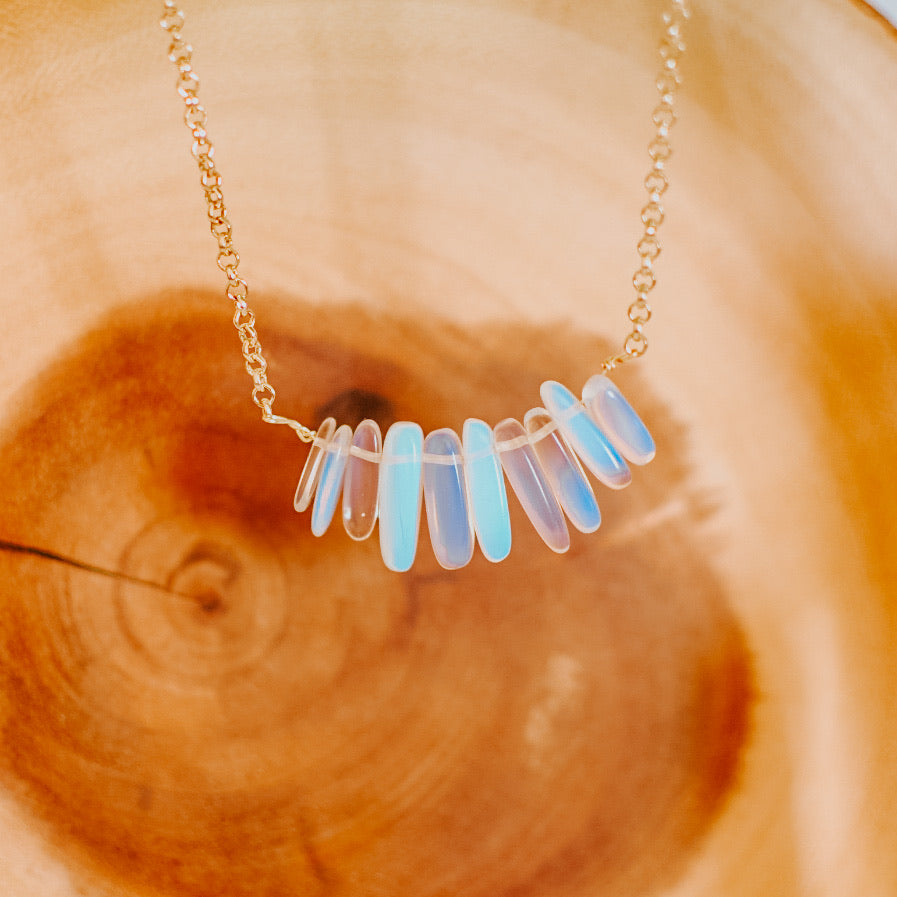 "Bee's Stone ""Opal"" Necklace (RESTOCK)"